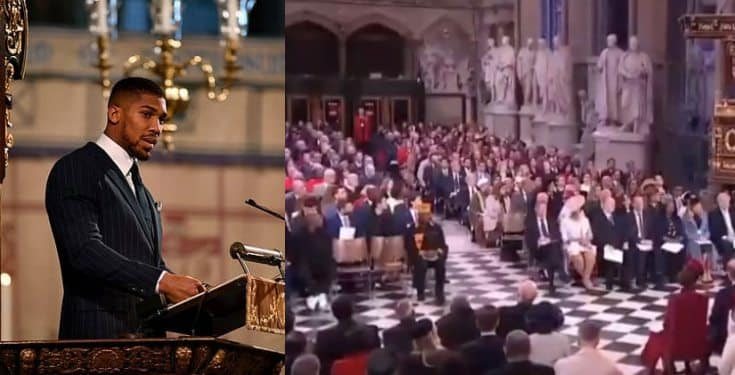 'My Heritage Is Nigerian, I'm Proudly Nigerian' – Anthony Joshua Says As He Addresses The Royal Family At Commonwealth Day Service (Video)
