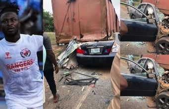 Nigerian Football Striker, Ifeanyi George Lost His Life In A Ghastly Motor Accident (Photos)