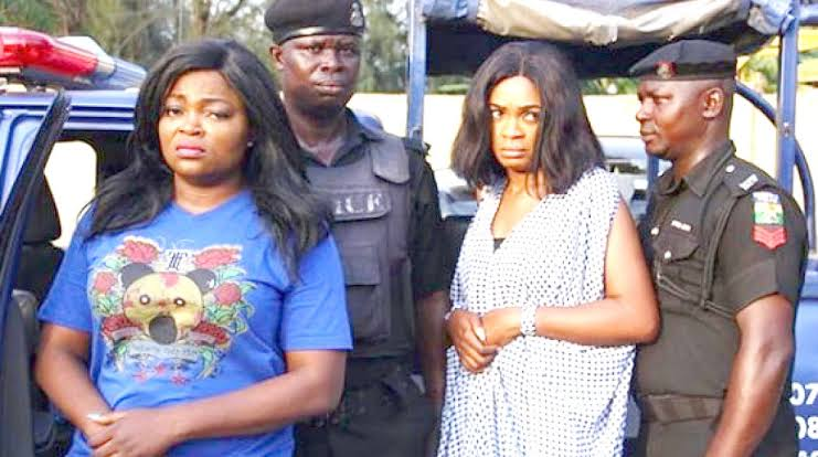 Funke Akindele Speaks From Police Custody, Video Of Her Arrest Surfaces Online (Watch Video)