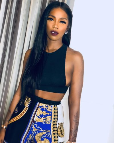 Cool or Trash: Tiwa Savage Steps Out In Hot Denim Outfit Exposing her B**bs (Photos)