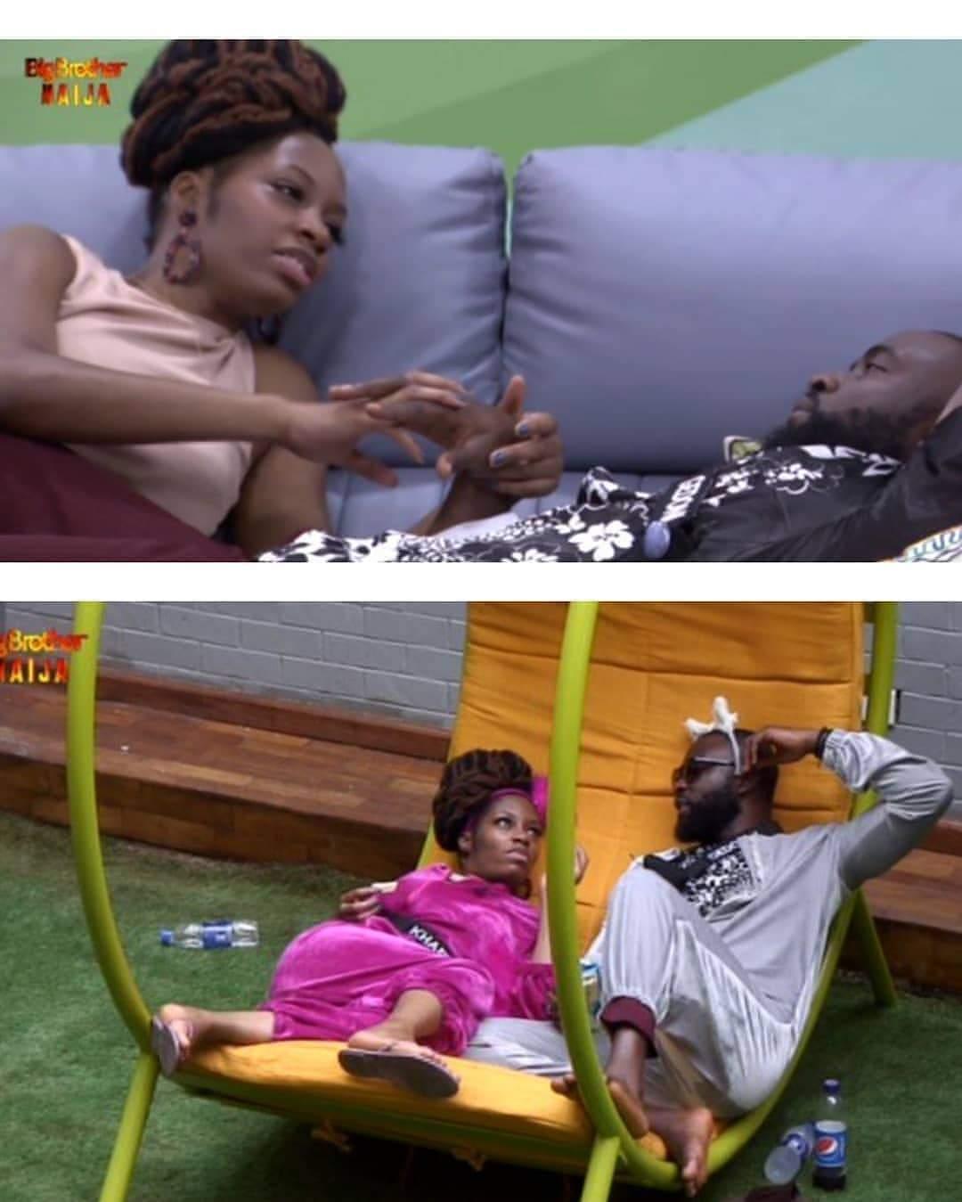 #BBNaija 2019: Gedoni, Khafi caught kissing in bed