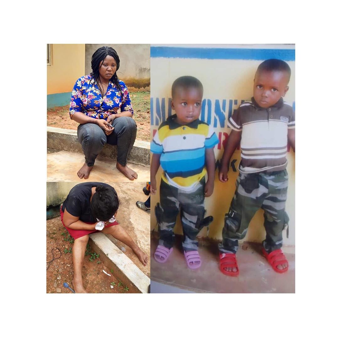 Breaking!!!: Two Stolen Kids Got Recused By The Police  In Anambra State; Arrest Suspects