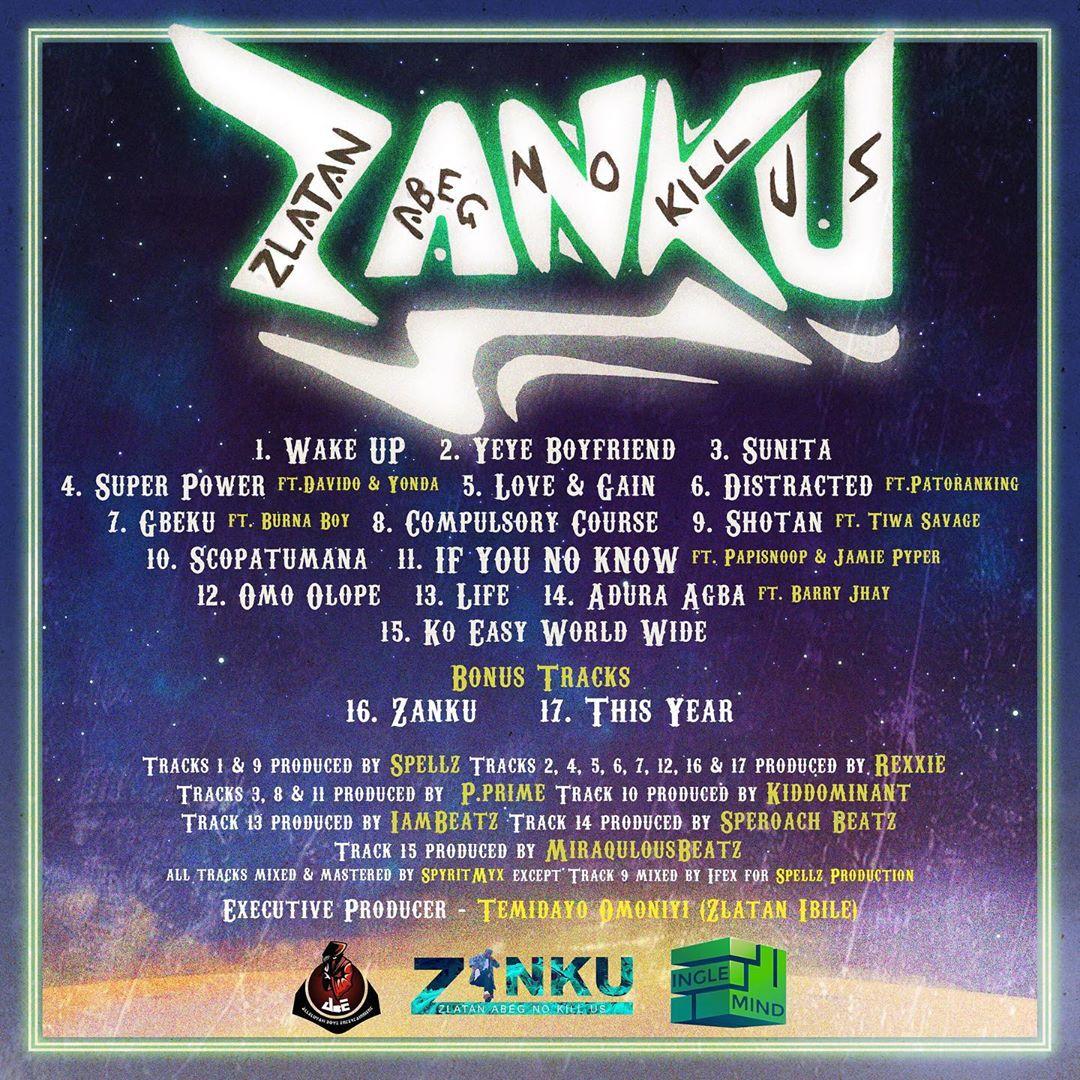 "[Download Full Album] Zlatan – ""Zanku"" (Mp3 & Zip)"