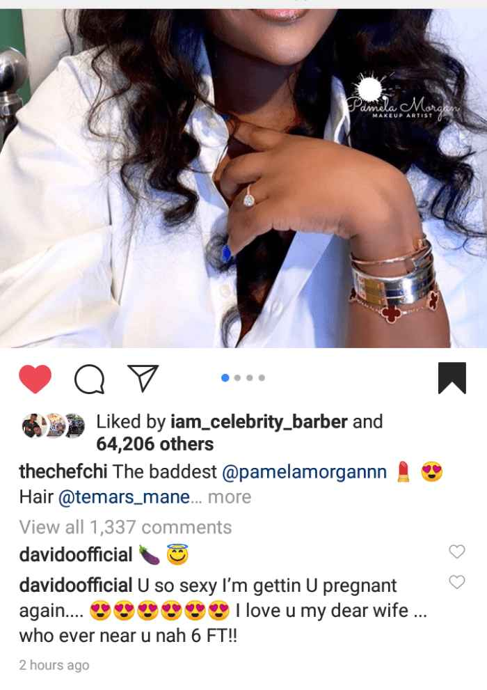 I Will Kill Anyone Who Gets Near My Beloved, Davido Threatens As He Gushes Over Chioma's Beauty