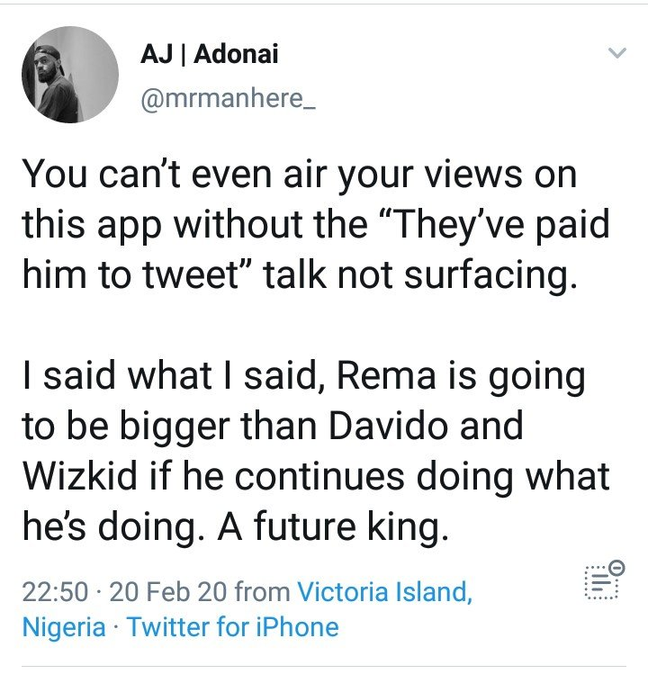 """Rema Will Be Bigger Than Davido And Wizkid"" – Twitter User"